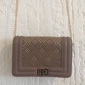 NWOT Blush Pink & Gold Accents Purse with Chain